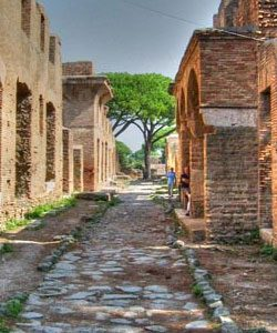 Ancient Ostia Tour ancient ostia tour - ostiastreet 250x300 - Ancient Ostia Tour