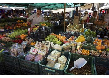 the taste of rome - 1280px Mercato di Campo di Fiori Open Market Rome   1851 360x260 - The taste of Rome