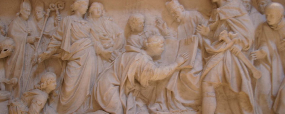 rome monument of christina queen of sweden - ChristinaofSweden relief 1200x480 - Rome Monument of Christina Queen of Sweden St. Peter's Basilica, Rome