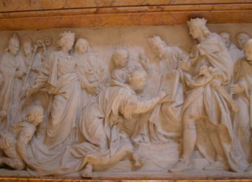 rome monument of christina queen of sweden - ChristinaofSweden relief 360x260 - Rome Monument of Christina Queen of Sweden St. Peter's Basilica, Rome