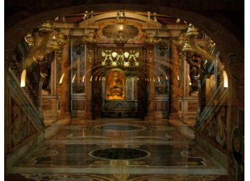 St. Peter's Tomb in St. Peter's Basilica