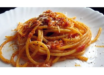 rome food tour - Bucatini Amatriciana 360x260 - Rome food tour –  Rome evening food tours