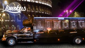rome tours in limousine - Disco Limobus Disco Limousine 15 Seats 300x171 - Rome tours in Limousine