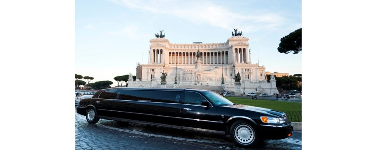 rome tours in limousine - Lincoln Wave Black Edition 8 seats 1200x480 - Rome tours in Limousine