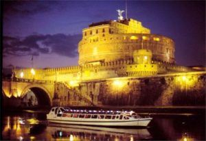 Roma crucero en el Tíber, Roma cena a bordo, Visita Roma Río Tíber, Tevere, paseos por el río Roma, crucero en barco por el río Tíber. Tour por el río de Roma,  roma crucero en el tíber - Navigazione sul Tevere by night 490 300x206 - Roma crucero en el Tíber